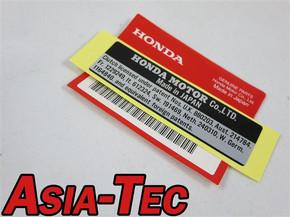 NR2 AUFKLEBER HONDA MONKEY DAX CHALY SS50 GORILLA APE